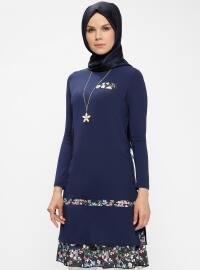 Navy Blue - Crew neck - Tunic