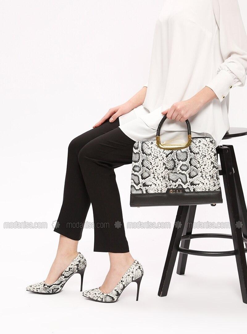 9345bf1630bed Ayakkabı & Çanta Takım - Beyaz Siyah