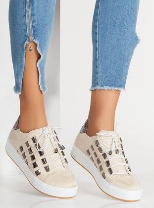 Ayakkabı - Bej Süet - Ayakkabı Havuzu Ürün Resmi