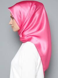 Pink - Plain - %100 Silk - Scarf