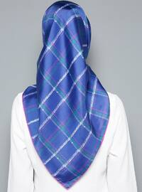 Saxe - Printed - %100 Silk - Scarf