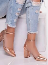 Pink - Gold - High Heel - Heels