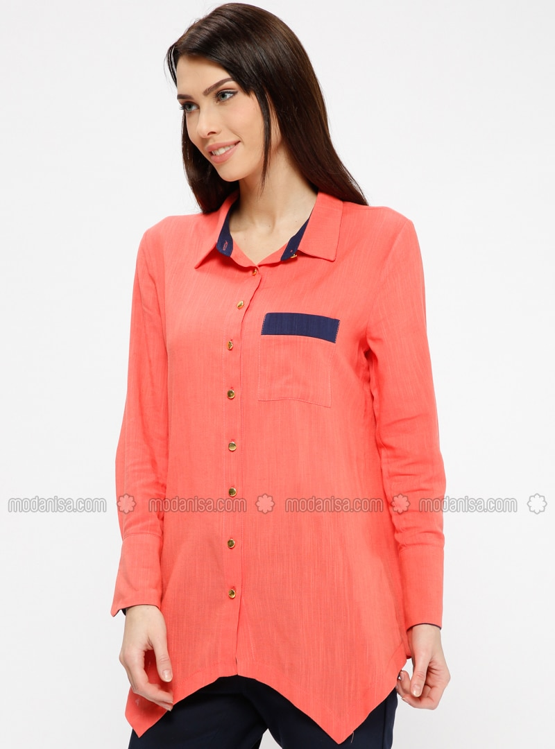 Coral - Point Collar - Blouses