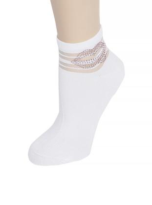 White - Ecru - Socks