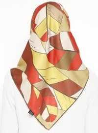 Yellow - Printed - Scarf - By Mossi