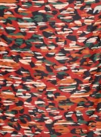 Orange - Multi - Printed - Scarf - By Mossi