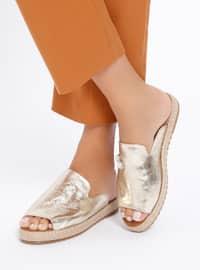 Golden tone - Sandal - Sandal