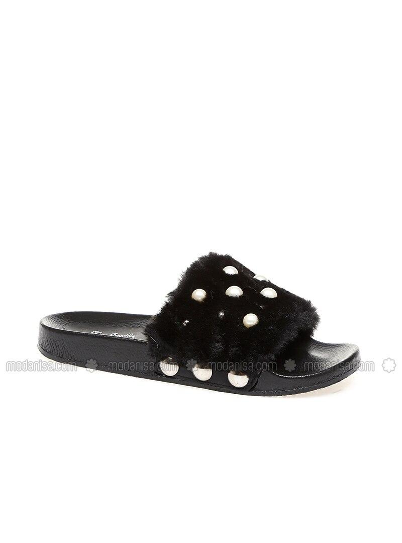 000b22e0900 Black - Sandal - Slippers