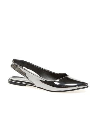 Black - Gray - Flat - Flat Shoes
