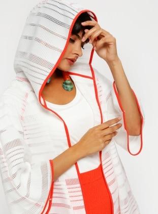 White - Orange - Unlined - Vest