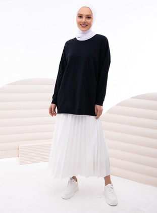 White - Unlined - Skirt - İnşirah