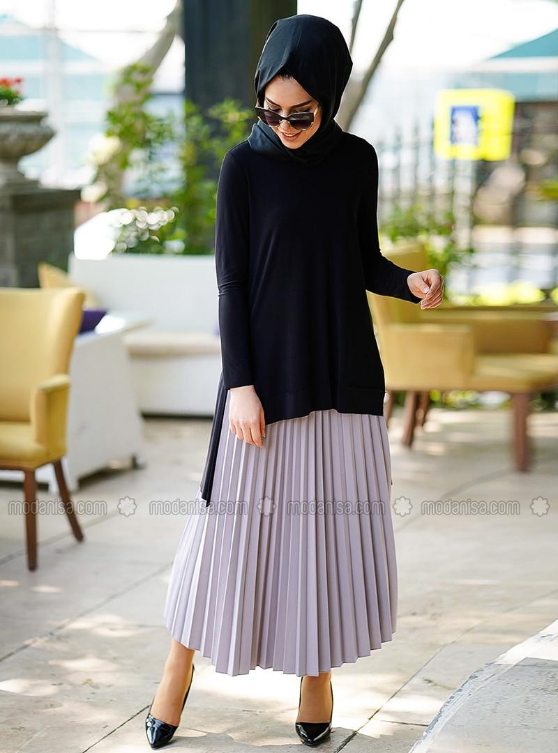 Gray - Unlined - Skirt