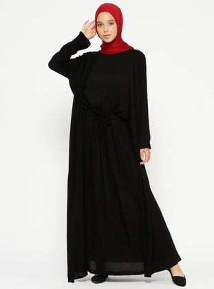 Black – Crew Neck – Unlined – Dresses – Pilise