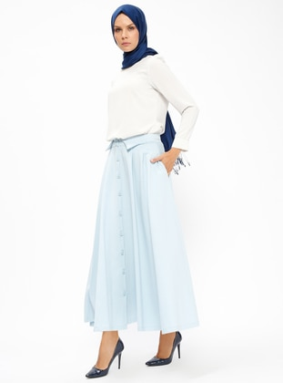 Baby Blue – Unlined – Skirt – Pilise