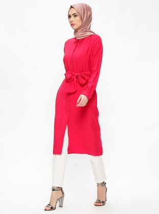 Pink - Fuchsia - Point Collar - Tunic