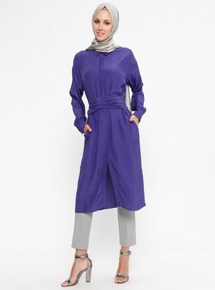 Purple - Multi - Point Collar - Tunic