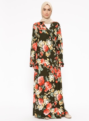 Green - Floral - Unlined - Prayer Clothes