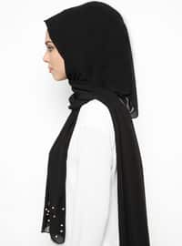 Black - Plain - Shawl