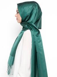 Green - Plain - Fringe - Shawl