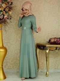 Masal Elbise - Çağla Yeşili - Gamze Özkul