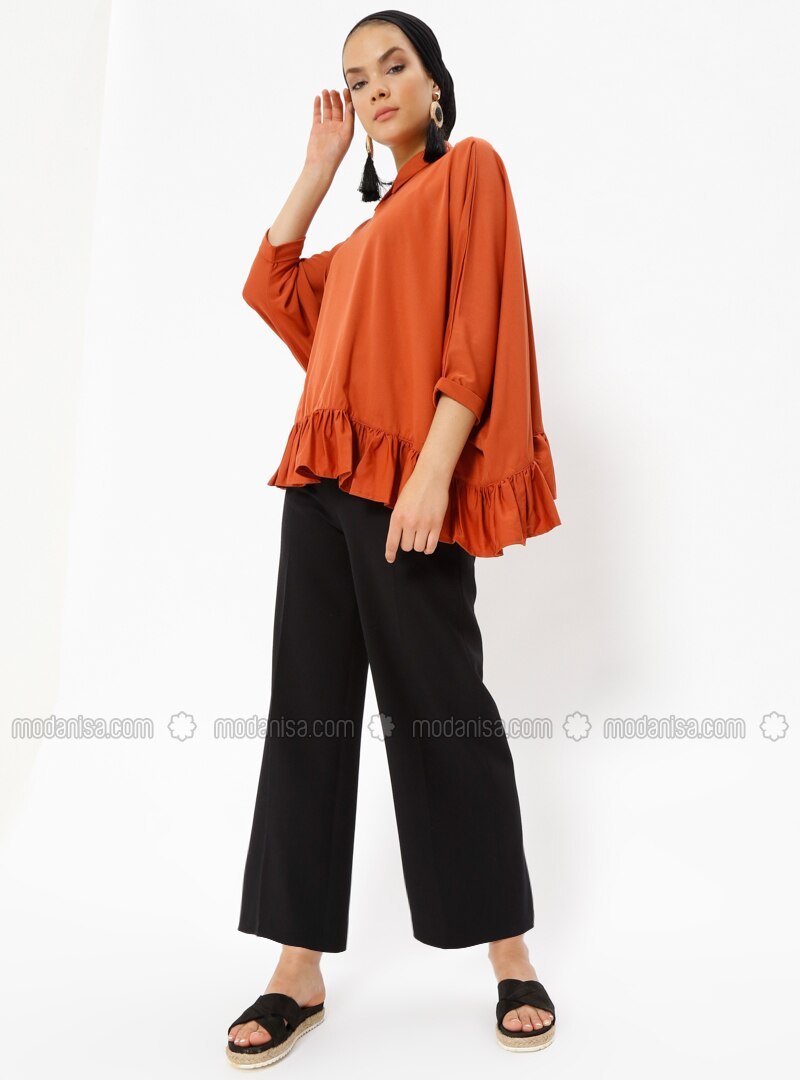 Tan - Point Collar - Tunic