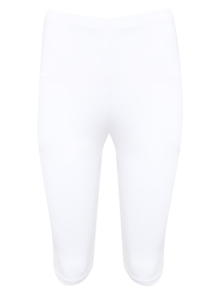 White - Legging - AKBENİZ