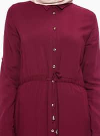 Plum - Point Collar - Unlined - Dresses