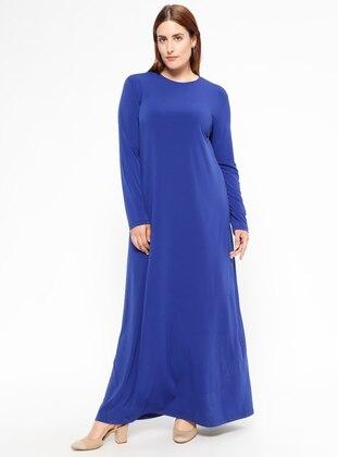 Saxe - Unlined - Crew neck - Plus Size Dress