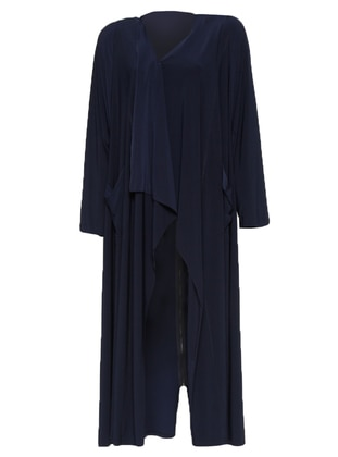 Navy Blue - Unlined - Shawl Collar - Topcoat