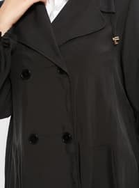 Black - Unlined - Plus Size Coat
