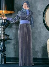 Sedef Abiye Elbise - Lacivert - An-Nahar