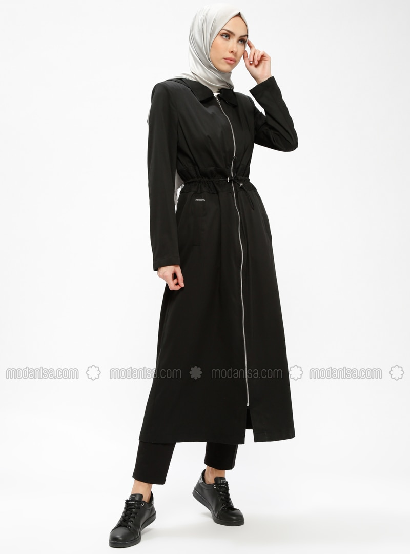 Black - Unlined - Point Collar - Topcoat