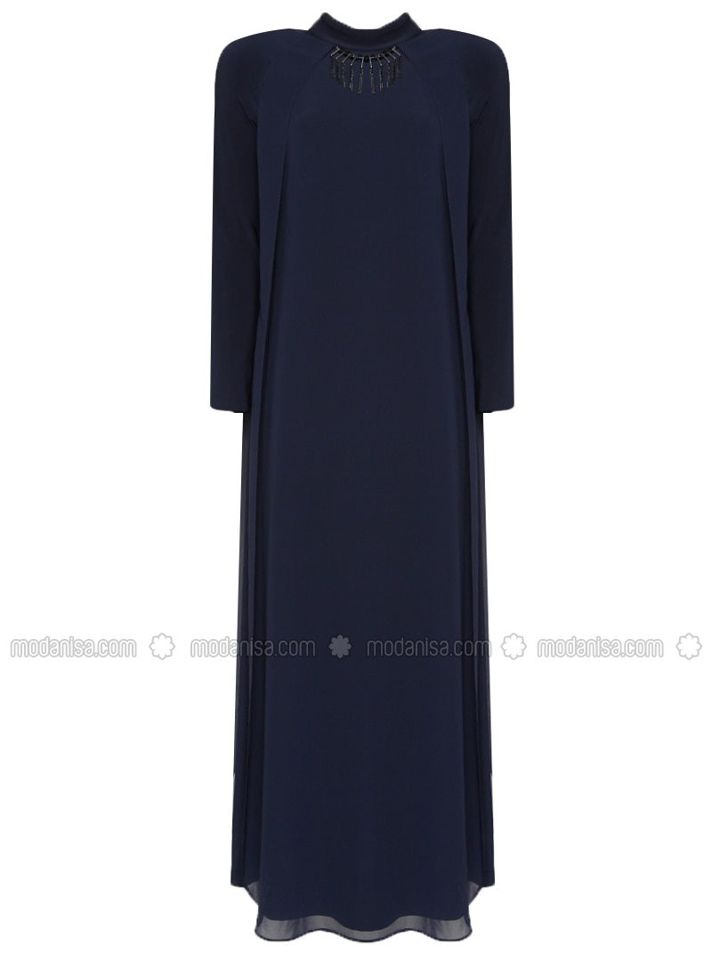 Navy Blue - Polo neck - Fully Lined - Dresses