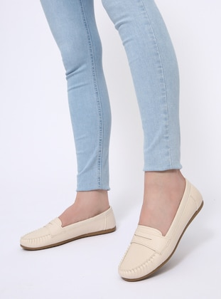 Beige - Flat - Flat Shoes - Zenneshoes