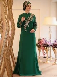 Defne Abiye Elbise - Zümrüt - Saliha