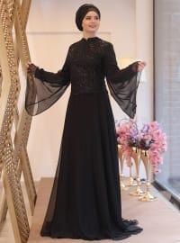 Gözde Abiye Elbise - Siyah - Saliha