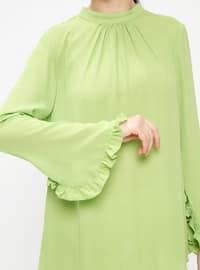 Green - Polo neck - Blouses