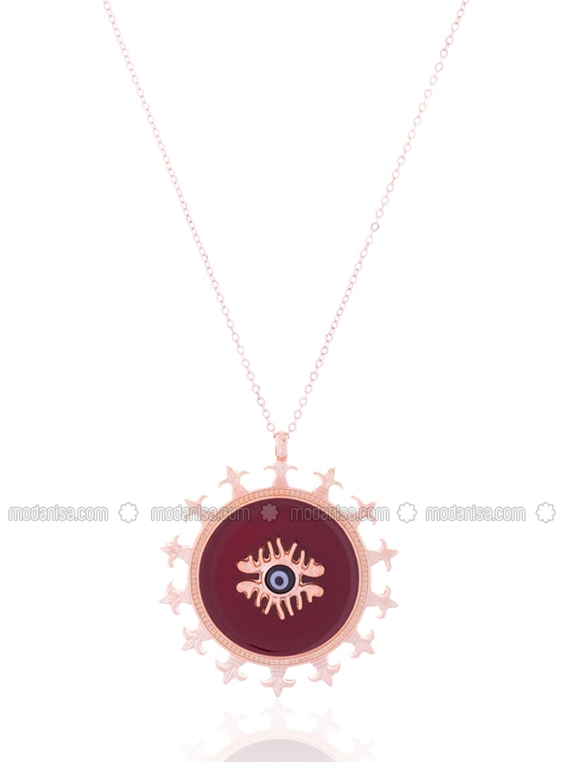buy jewellery just ruby jivaana roo necklace by at online product maroon purchase
