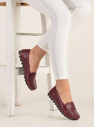 Maroon - Flat - Flat Shoes - Zenneshoes