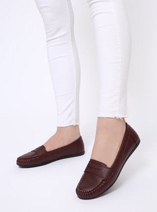 Maroon - Flat - Flat Shoes - Zenneshoes