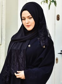 Black - Plain - Shawl -  Eşarp