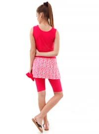 Pink - Half Covered Switsuits