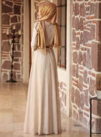 Golden tone - Crew neck - Fully Lined - Dresses