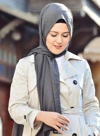 Minc - Anthracite - Plain - Cotton - Shawl -  Eşarp