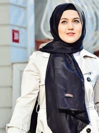 Black - Plain - Shawl -  Eşarp