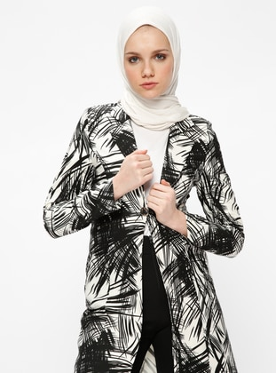 Black - Multi - Unlined - Shawl Collar - Jacket