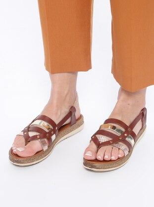 Black - Gold - Sandal - Sandal