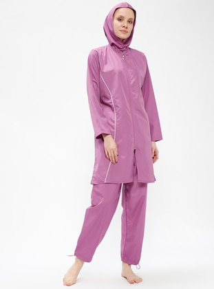 White - Lilac - Unlined - Half Covered Switsuits