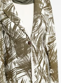 Khaki - Multi - Unlined - Shawl Collar - Jacket