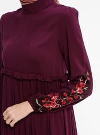Plum - Polo neck - Unlined - Dresses